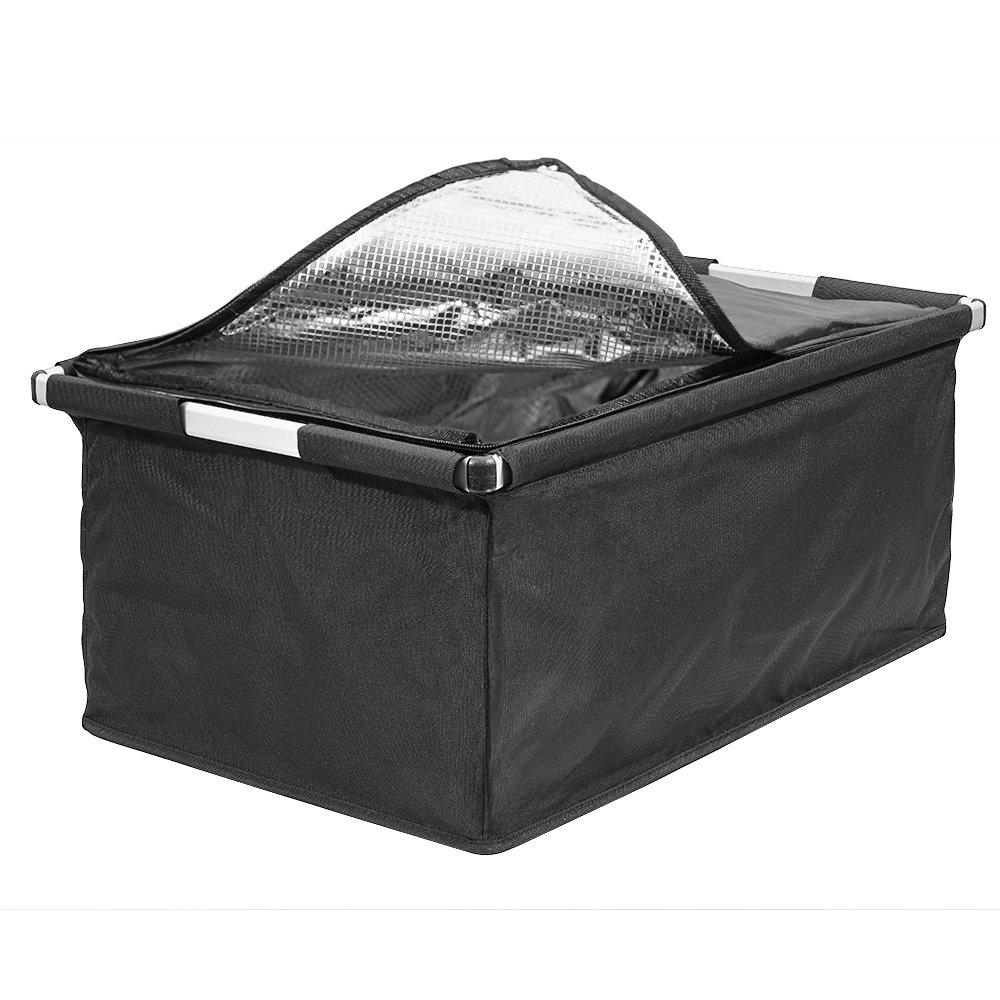achilles Big-Box Cool, Transportkiste mit Aluminiumrahmen und Kühleinsatz, Einkaufskühlkorb, Kühlbox in schwarz, 60 cm x 40 cm x 30 cm Einkaufskühlkorb Kühlbox in schwarz achilles concept AD120ACbl