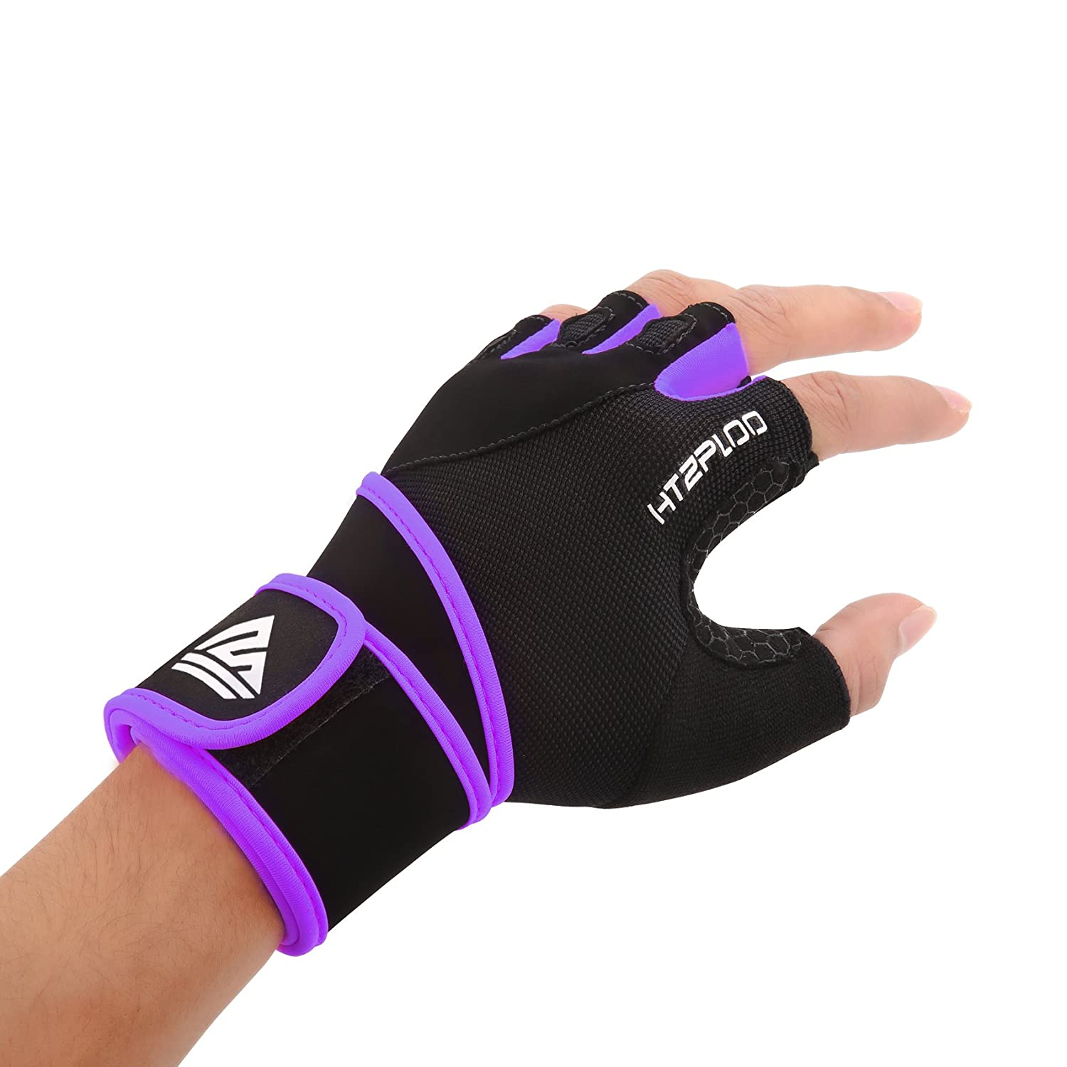 HTZPLOO Weight Lifting Gloves Workout Gloves with Wrist Wraps,Full Palm Pad /& Enhanced Grip for Bodybuilding,Gym,Cross Fit,Fitness,Training Exercise Men /& Women