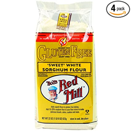Bobs Red Mill Gluten Free Sweet White Sorghum Flour, 22 Ounce (Pack of 4)