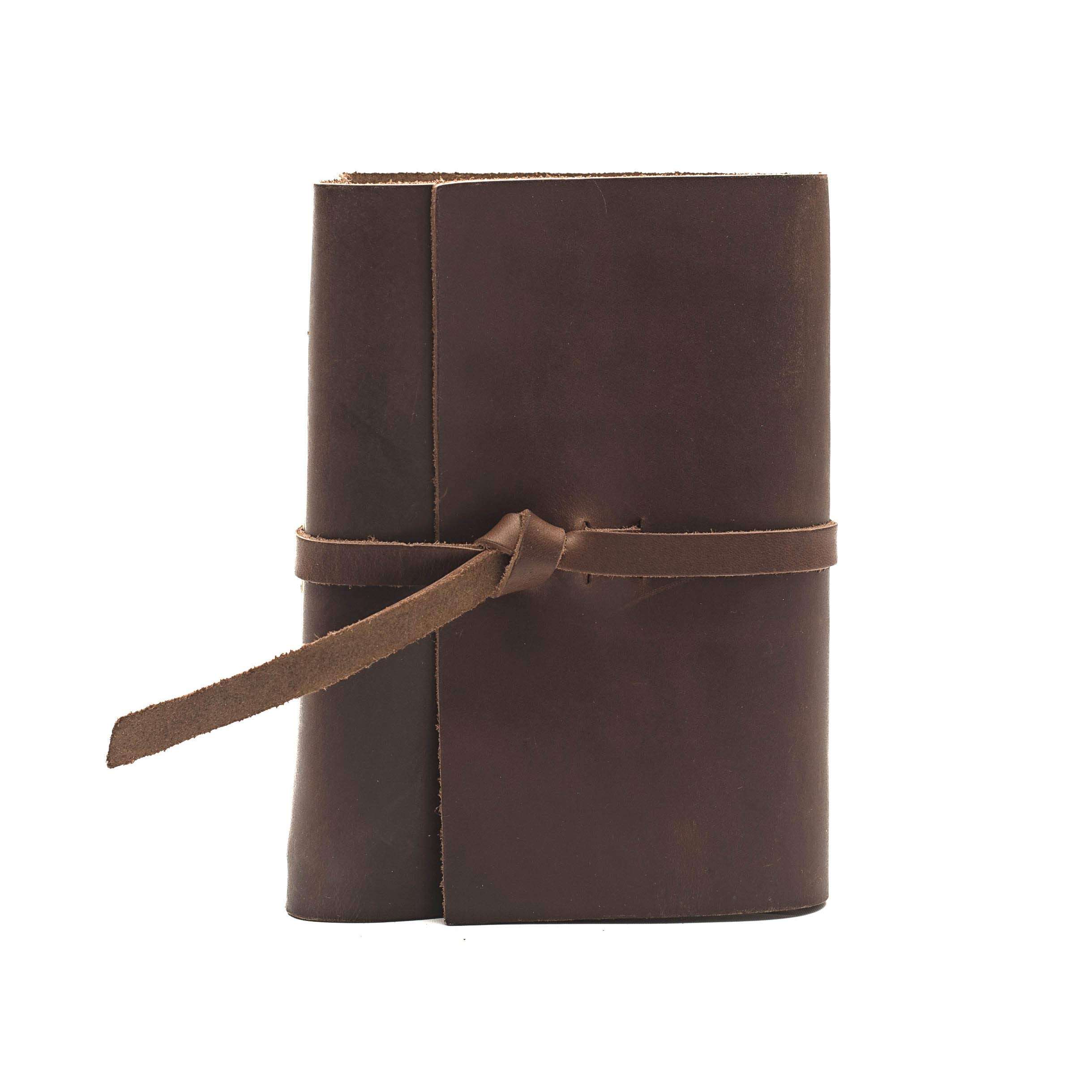 Rustico Premium Handcrafted Top Grain Leather Photo Album for 4x6 Photos with Old World Style Flap Closure