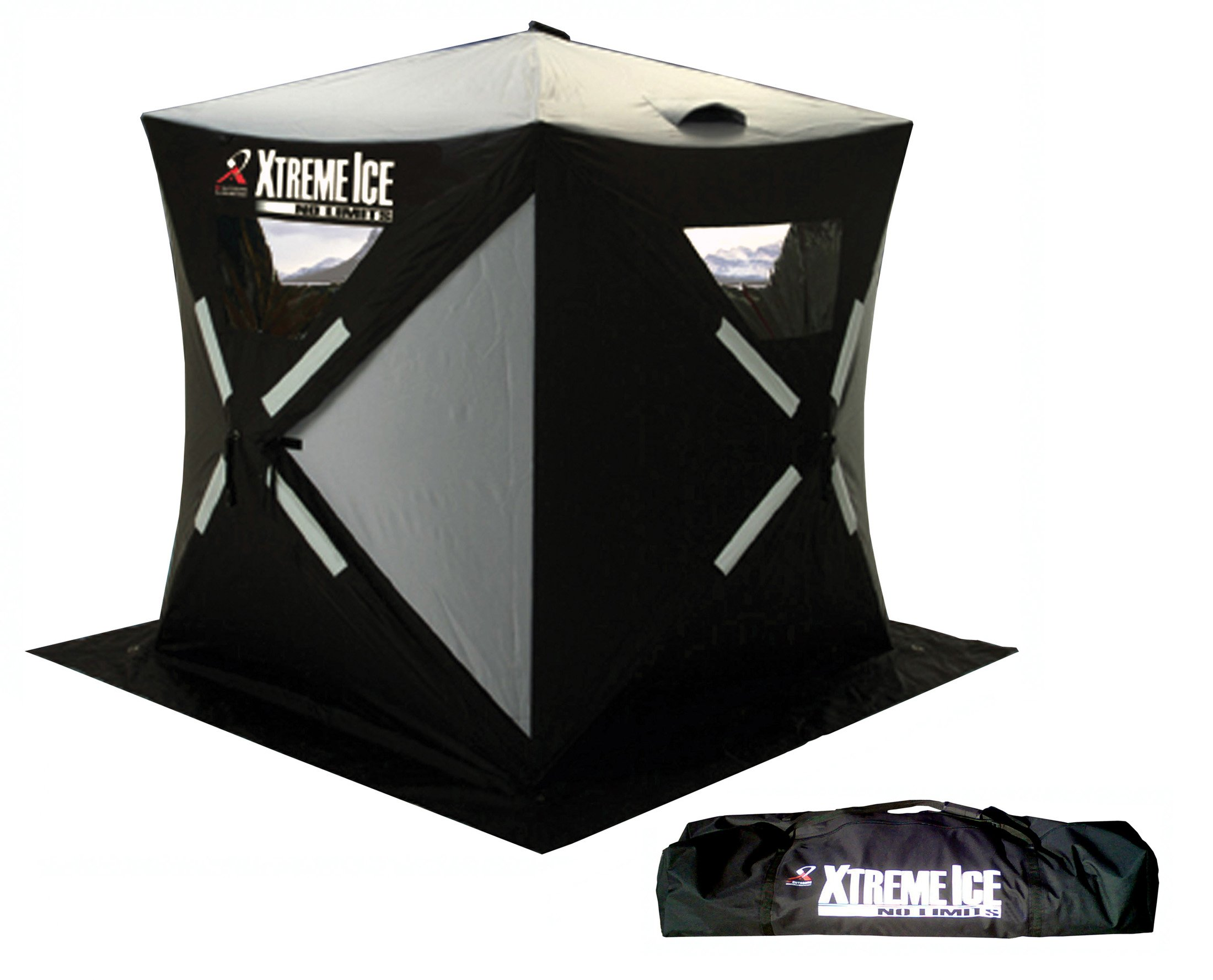 Ap Outdoors Xtreme Ice Xi2 - 2 Person Hub Style Pop-Up Ice Fishing Shelter (4½ X 4½-Feet )