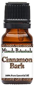 Miracle Botanicals Ceylon Cinnamon Bark Essential Oil (True Cinnamon) - 100% Pure Cinnamomum Zeylanicum - Therapeutic Grade (10ml)