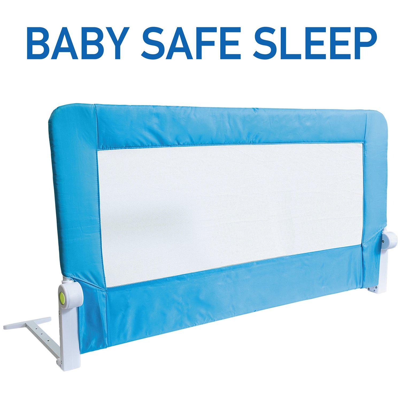 Tatkraft Guard Foldable Bed Rail Guard Baby Safe Sleep 120X47X65cm Powder Coated Steel Plastic Polyester