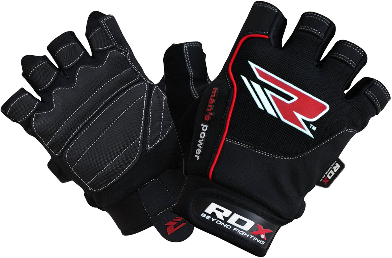 RDX Gym Weight Lifting Gloves Powerlifting Training Bodybuilding Fitness Workout