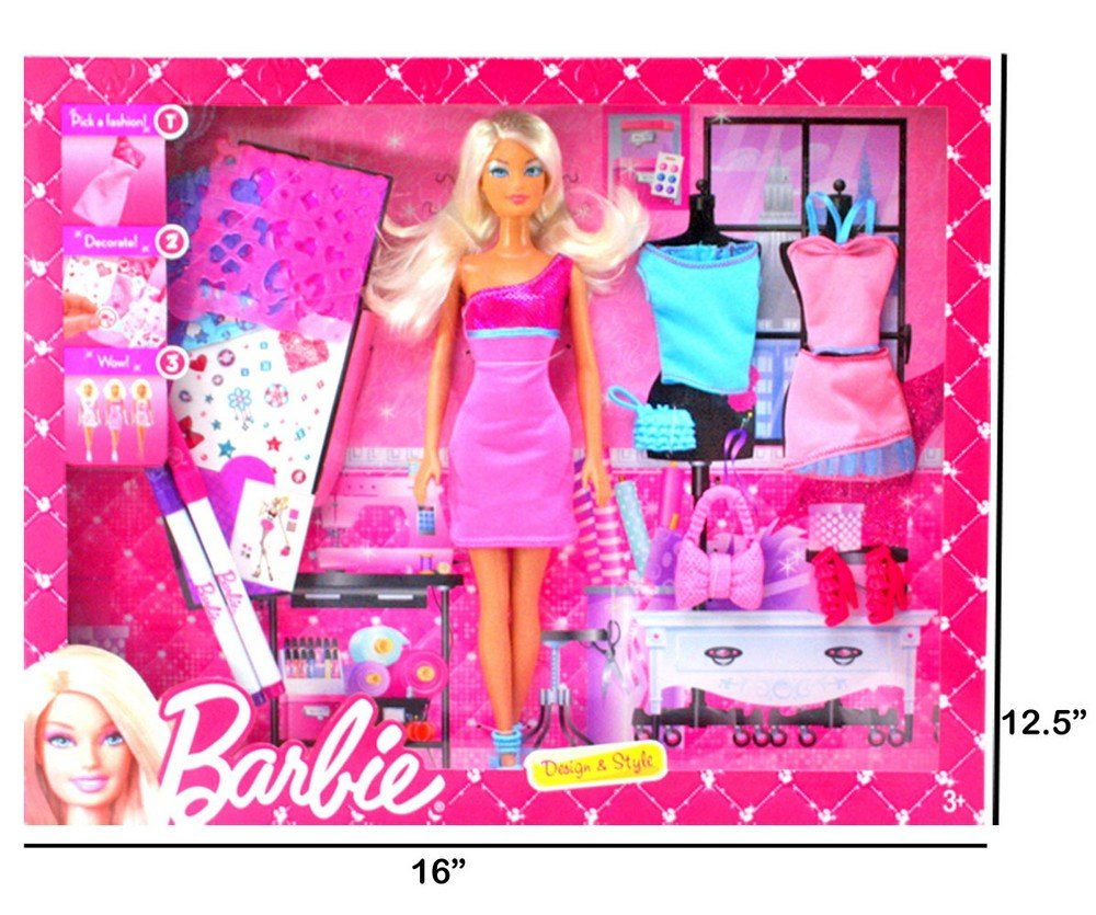 c9b58ab59 Buy Original Barbie Doll Set Beautiful Trendy Dresses Kids Toys Toy Baby  Gift -88 Online at Low Prices in India - Amazon.in
