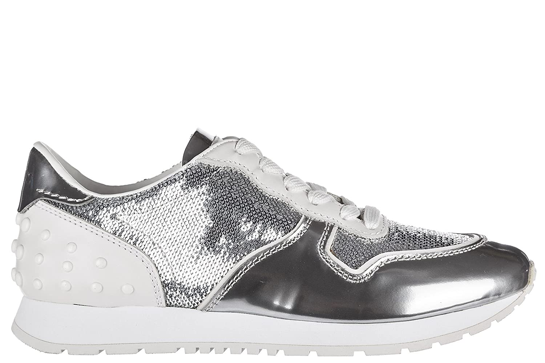 Tod's Zapatos Zapatillas de Deporte Mujer en Piel Sportivo Allacciata Plat 35 EU