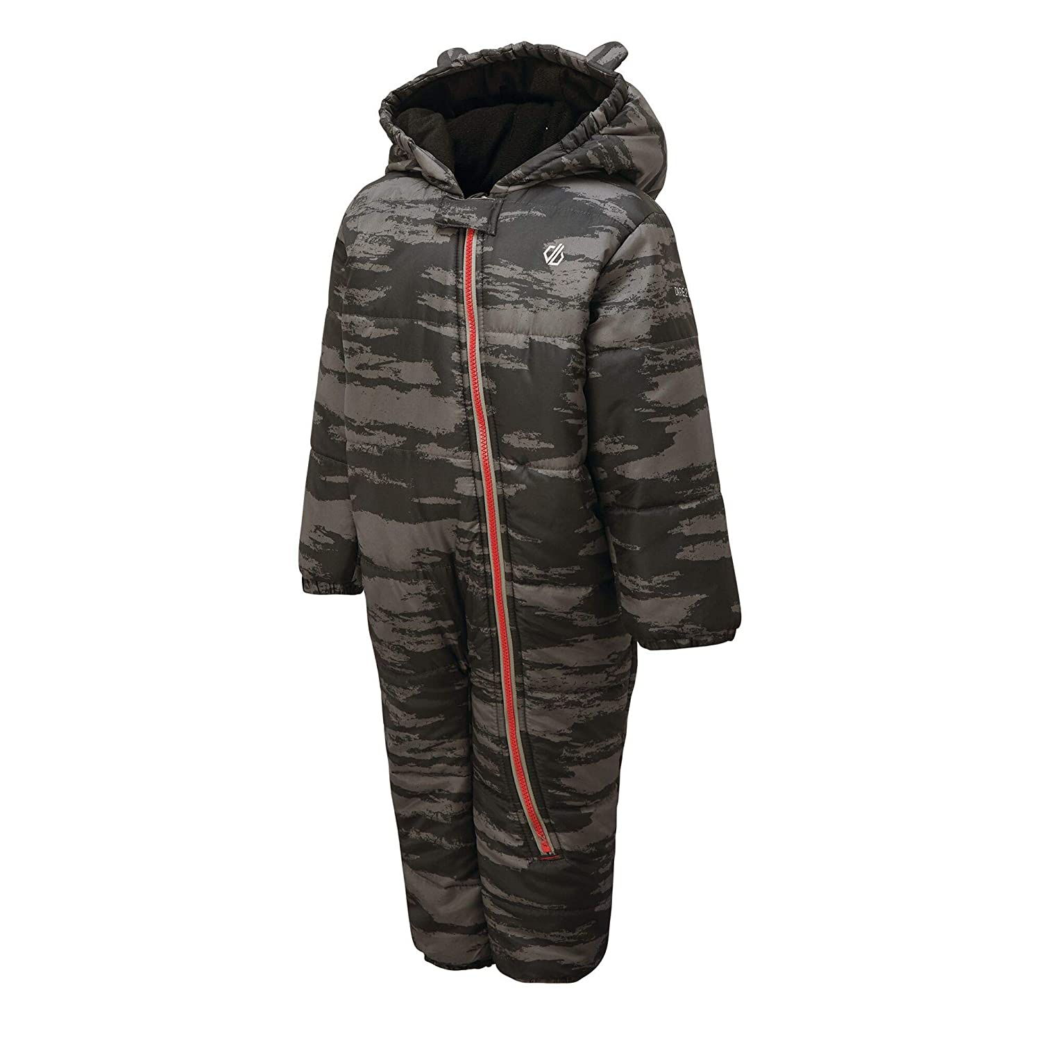 Dare 2B Bambino Waterproof /& Breathable High Insulated Hooded Character Rain /& Snowsuit with Side Leg Access And Integrated Snow Gaiters Salopette
