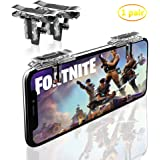Fortnite PUBG Mobile Game Controller-Sensitive Shoot, Transparent Aim Keys L1R1 Shooter Joysticks Aim Buttons & Cell Phone Game Controller for Android IOS (1 Pair)