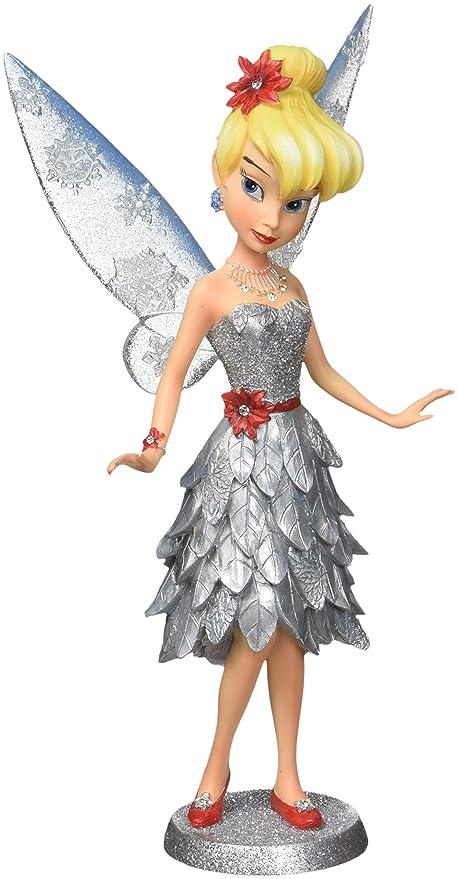 Christmas Tinkerbell.Enesco Disney Showcase Christmas Tinker Bell Figurine 8 25