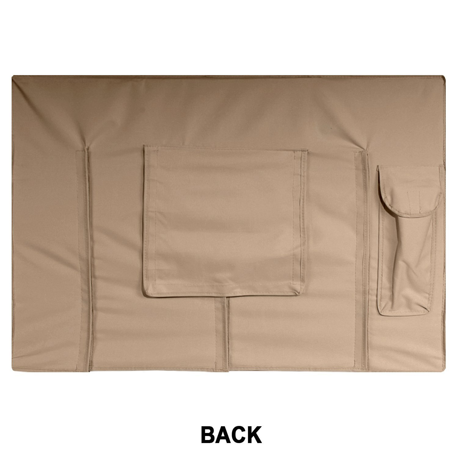 Outdoor TV Cover, Brown Universal Weatherproof Protector for 50'' - 52'' TV - Fits Most Mounts & Brackets by KHOMO GEAR (Image #6)