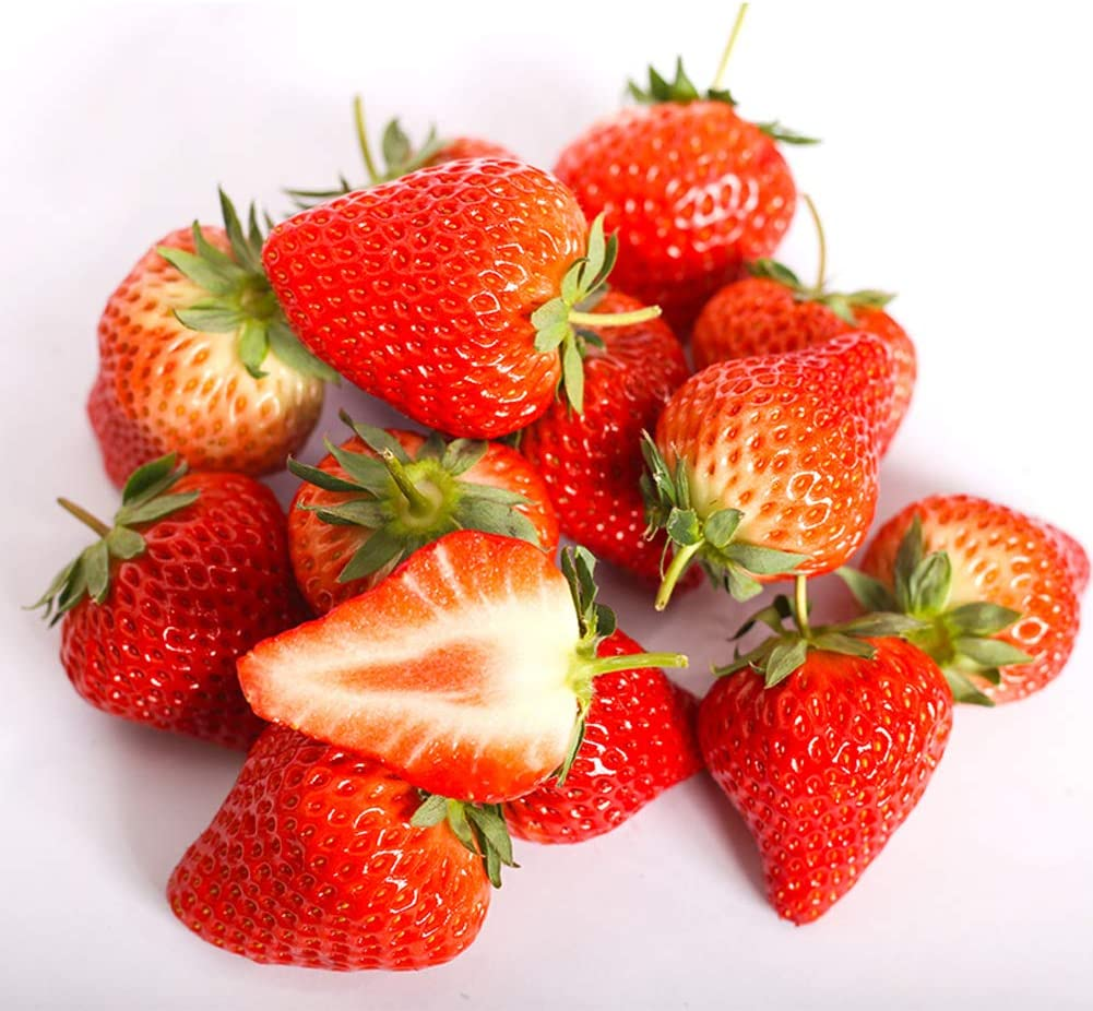 Red Strawberry Seeds 100 Organic Heavy Yield Premium Giant Fast Fruit Vine Plants Easy to Grow Seeds for Planting Outdor Home Garden