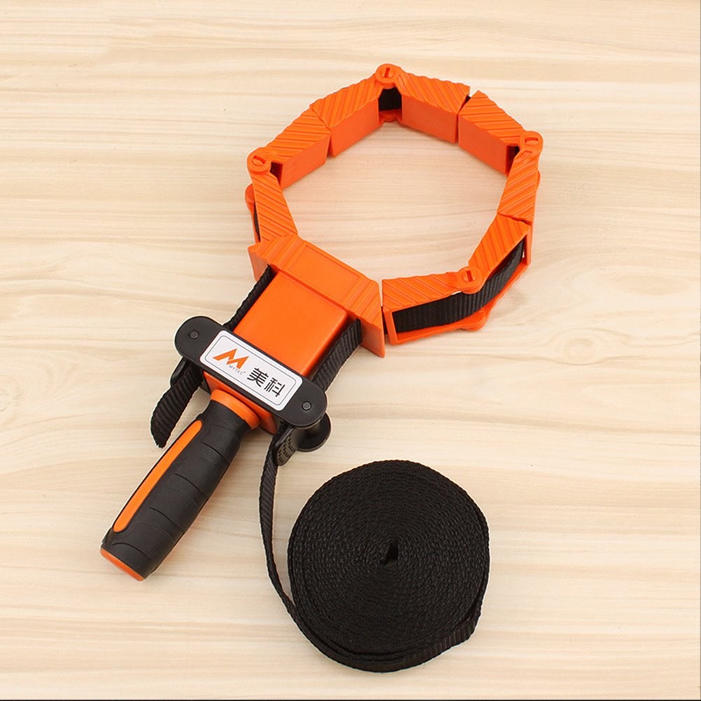 Amyove 4M Nylon Band Clamp Strap Clip Polygon Angle Clamp Woodworking Tool