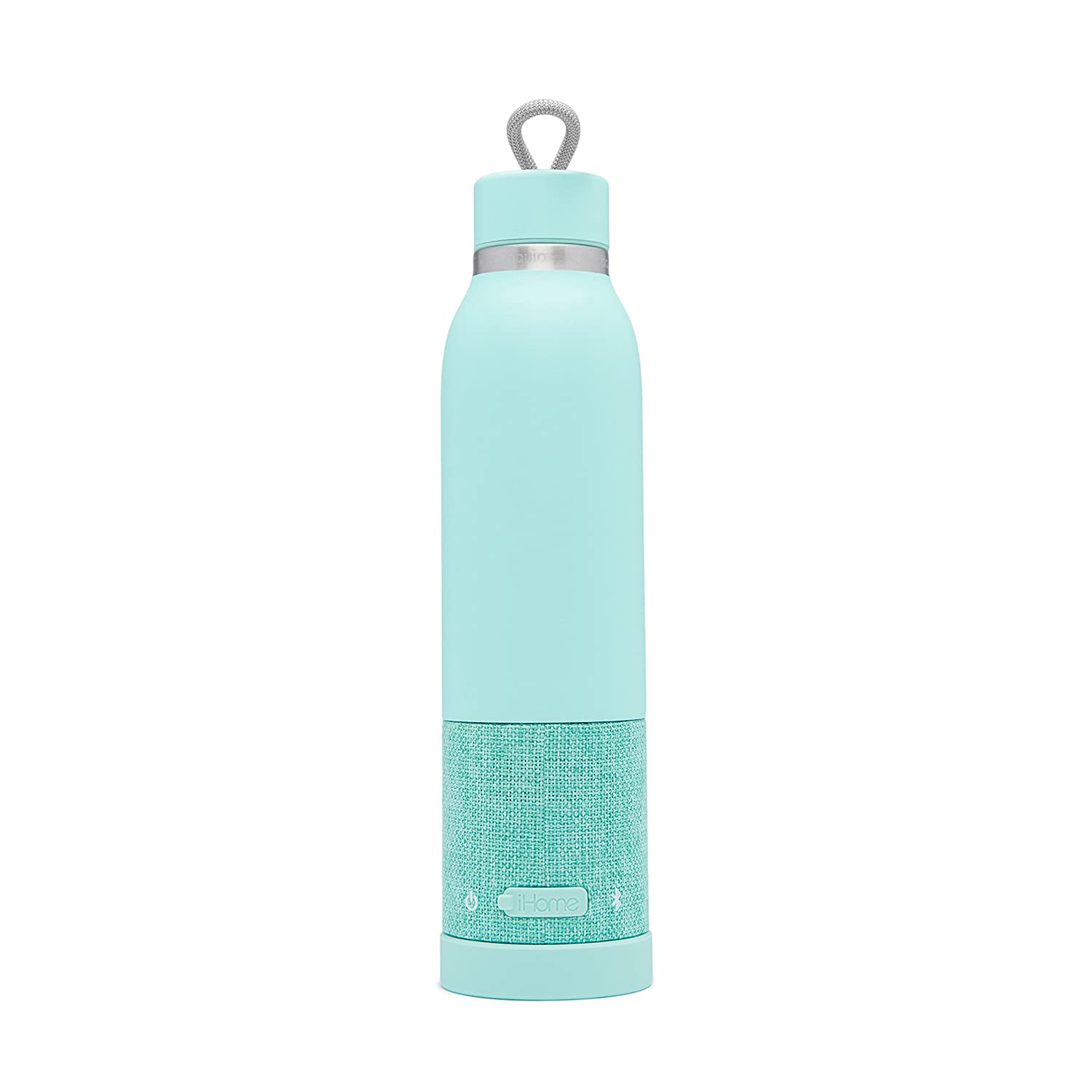 b64092d70a Amazon.com: Aquio IBTB2QQ Double-wall Steel Insulated Hydration Bottle with  Rechargeable Bluetooth Wireless Speaker, Powered by iHome, Seafoam:  Electronics