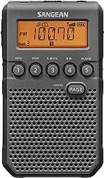 Sangean DT-800BK AM / FM / NOAA Weather Alert Rechargeable Pocket