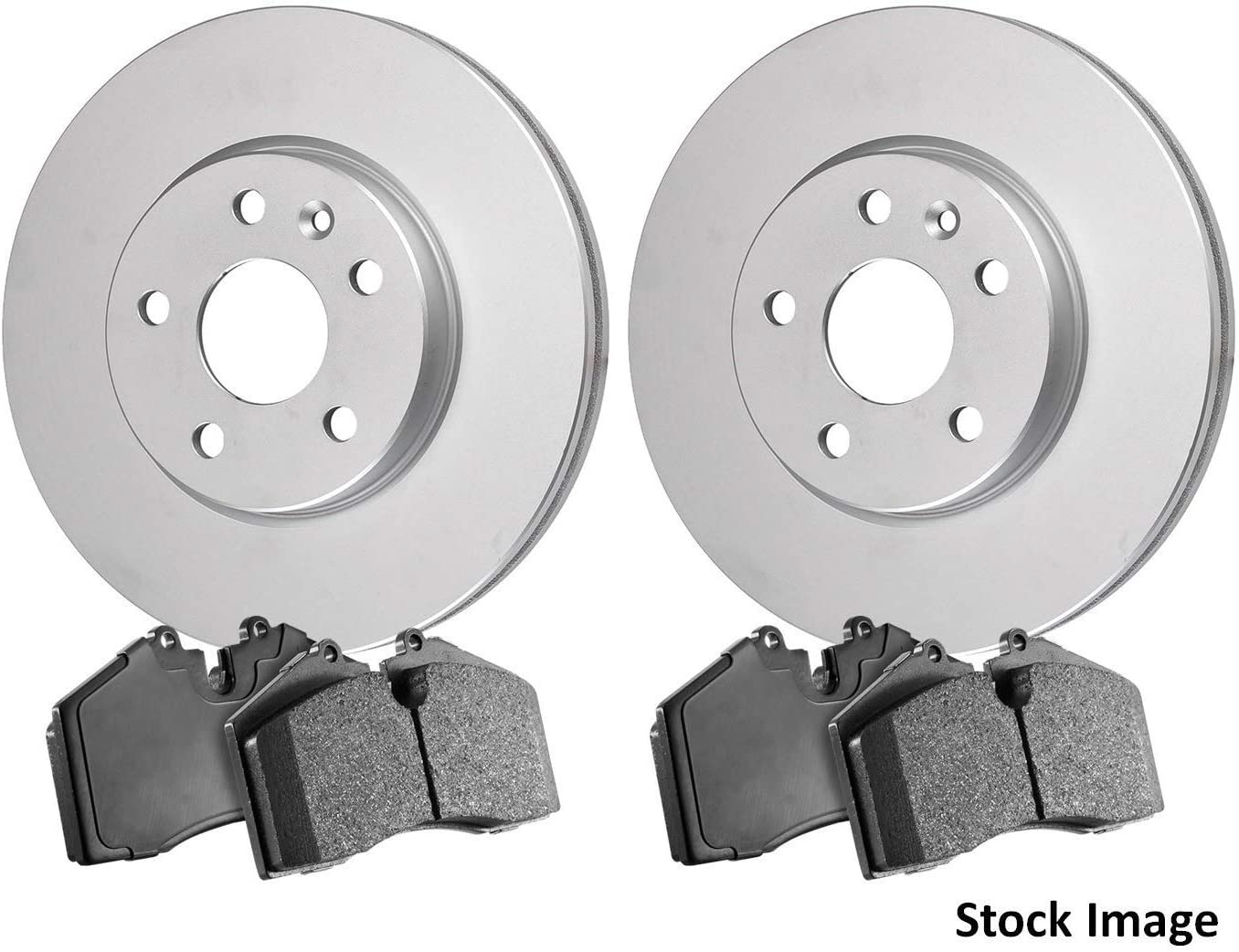 For Both Left and Right One Year Warranty Stirling 2017 for Honda Civic Rear Premium Quality Anti Rust Coated Disc Brake Rotors And Ceramic Brake Pads -