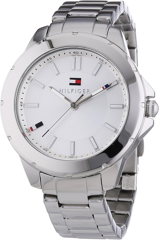 Tommy Hilfiger Watches Kimmie - Reloj Analógico de Cuarzo para Mujer, Correa de Acero Inoxidable Color Plateado