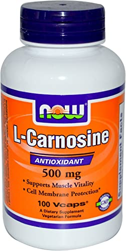 L-Carnosine 500mg 100 VegiCaps Pack of 2