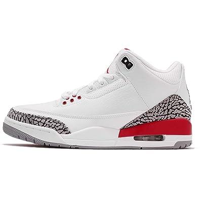 online store 00983 19736 Nike Herren Air Jordan 3 Retro Katrina Weiß Leder Basketballschuhe ...