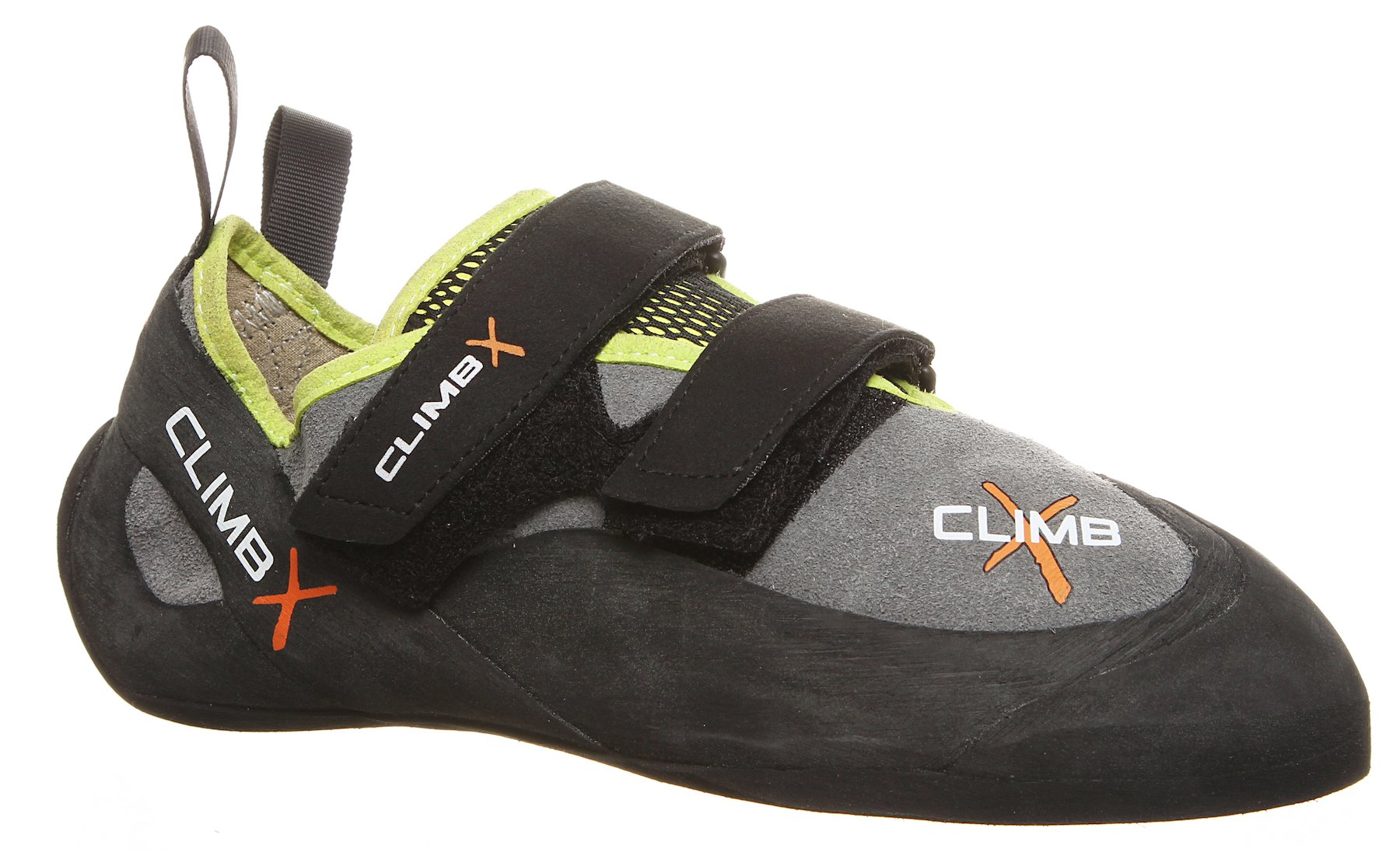 Climb X Rave Trainer Climbing Shoe with Free Sickle M-16 Climbing Brush (Men's 9.5, Grey) by Climb X