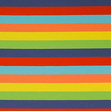 3598b8609a1 Image Unavailable. Image not available for. Color: JERSEY FABRIC - Multi-Coloured  Rainbow Stripe 2 ...