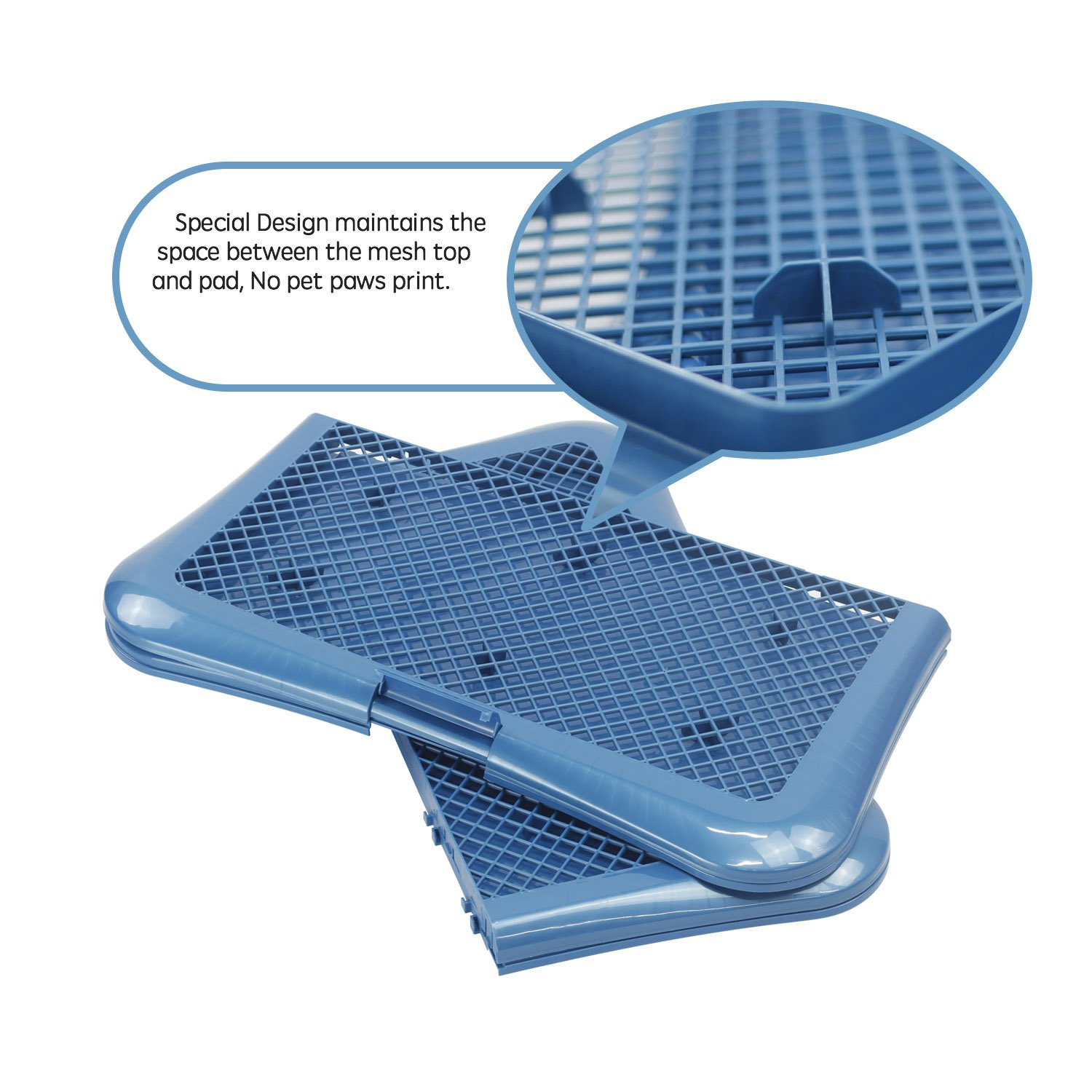 Petphabet Training Pad holder Floor Protection Dog Pad Holder Mesh Training Tray (L) by Petphabet (Image #6)