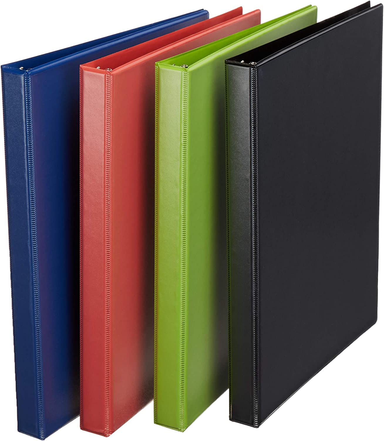 AmazonBasics 1/2-Inch Round Ring Binder, Mixed, View, 6-Pack