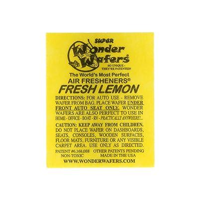 Wonder Wafers 3020 Fresh Lemon Scent Car Truck Air Freshener - 100 Pack: Automotive