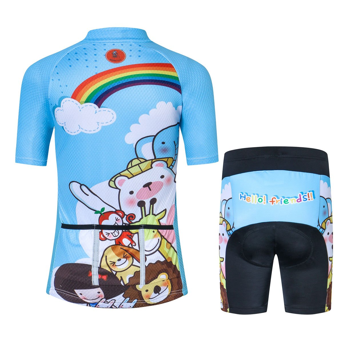 8828499e9 xingrass Children Boys Girls Cycling Jersey Set for Kids Cartoon Road  Mountain Bike Short Sleeve with 3D Padded Shorts Breathable