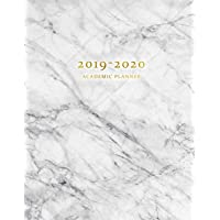 2019-2020 Academic Planner: Weekly and Monthly Dated Academic Planner Organizer with Inspirational Quotes, Large (August 2019 - July 2020) - Gray White Marble