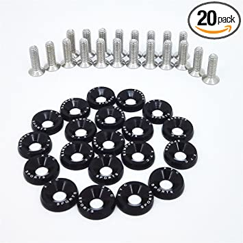 20pack Gold CNC Billet Aluminum Fender Washer Engine Bay Dress Up Kit Free Ship