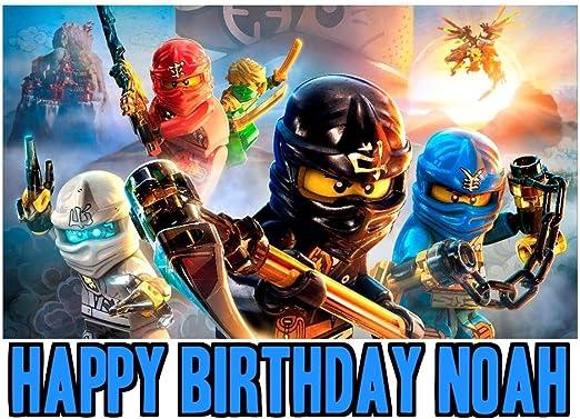 Amazon.com: Ninjago imagen foto decoración para tarta para ...