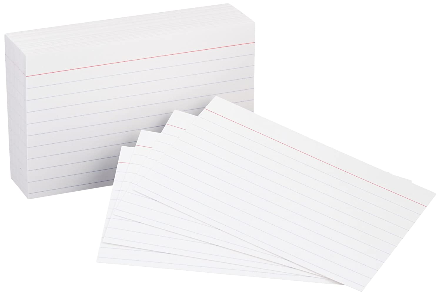 AmazonBasics Heavy Weight Ruled Index Cards, White, 3x5-Inch, 100-Count