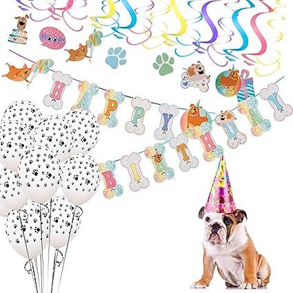 Amazon.com: Mewtogo - Decoración para fiesta de perros, 16 ...