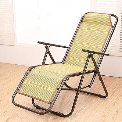Chaise De Plage Loisirs Bureau Pliante Salon Plein Air Bambou Rotin Sieste Frache Pause Djeuner Femme Enceinte