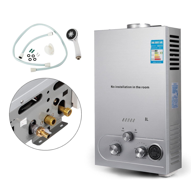 Guellin LNG Calentador de Agua de Gas Natural Calentador de Agua Calentador de Agua Automá tico Calentador de Agua Instantá neo Natural Gas Water Heater (6L)