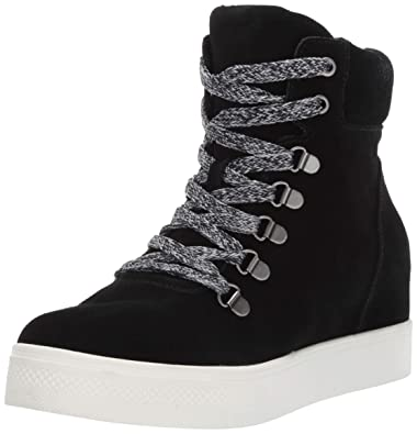 d4e135e2b5f Steve Madden Women s Catch Wedge Sneaker Black 5.5 ...