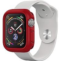 RhinoShield Coque Bumper pour Apple Watch Series 4-44 mm [CrashGuard NX] Protection Fine Personnalisable avec Technologie Absorption des Chocs - Rouge