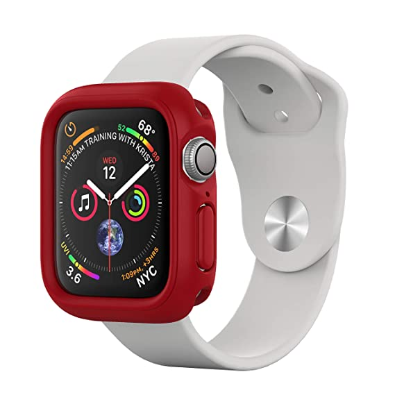 RhinoShield Bumper Case for Apple Watch Series 4 [40mm - NOT 44mm] [CrashGuard NX] | Shock Absorbent Slim Design Protective Cover [1.2M/4ft Drop ...