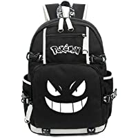 JUSTRHICE Luminous Anime Pokemon Cosplay Backpack Pikachu Laptop Bag Bookbag School Bag Daypack (1)