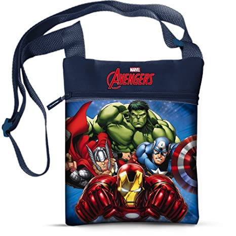 Borsa Passeggio 5 Tracolla Marvel Bambino 42958 21x16 Cm Avengers qr7qHWf