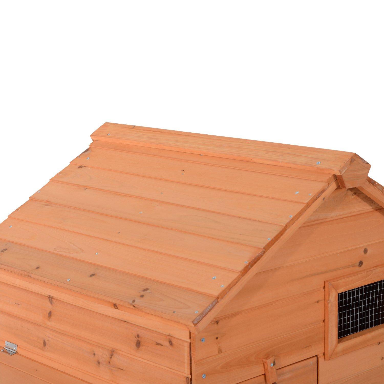 Pawhut Outdoor Raised Leg Hen House Chicken Coop by PawHut (Image #7)