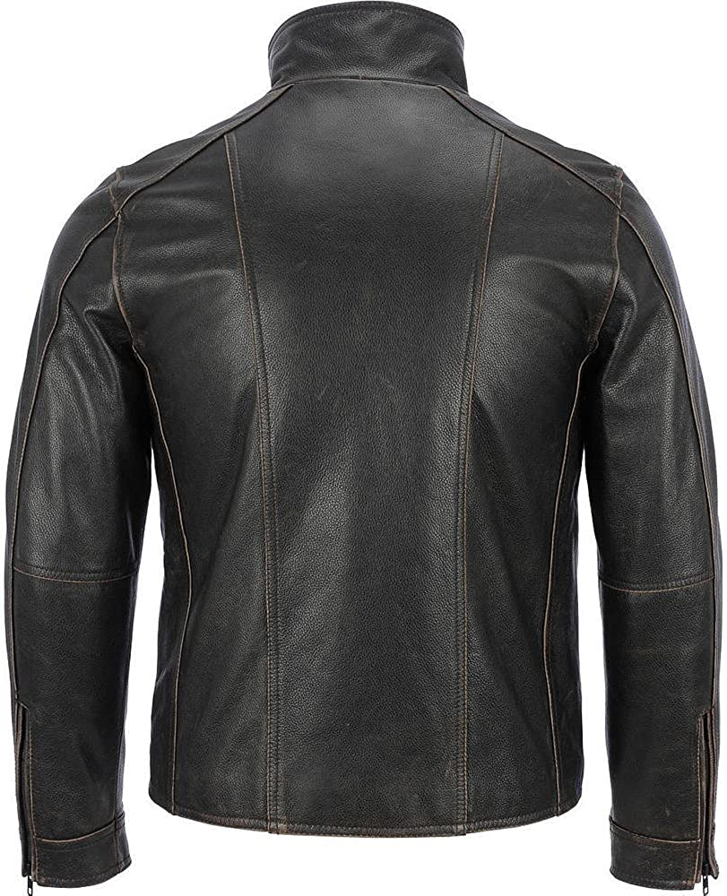 Faam Collection Special Bladed Lined Lambskin Leather Jacket for Men