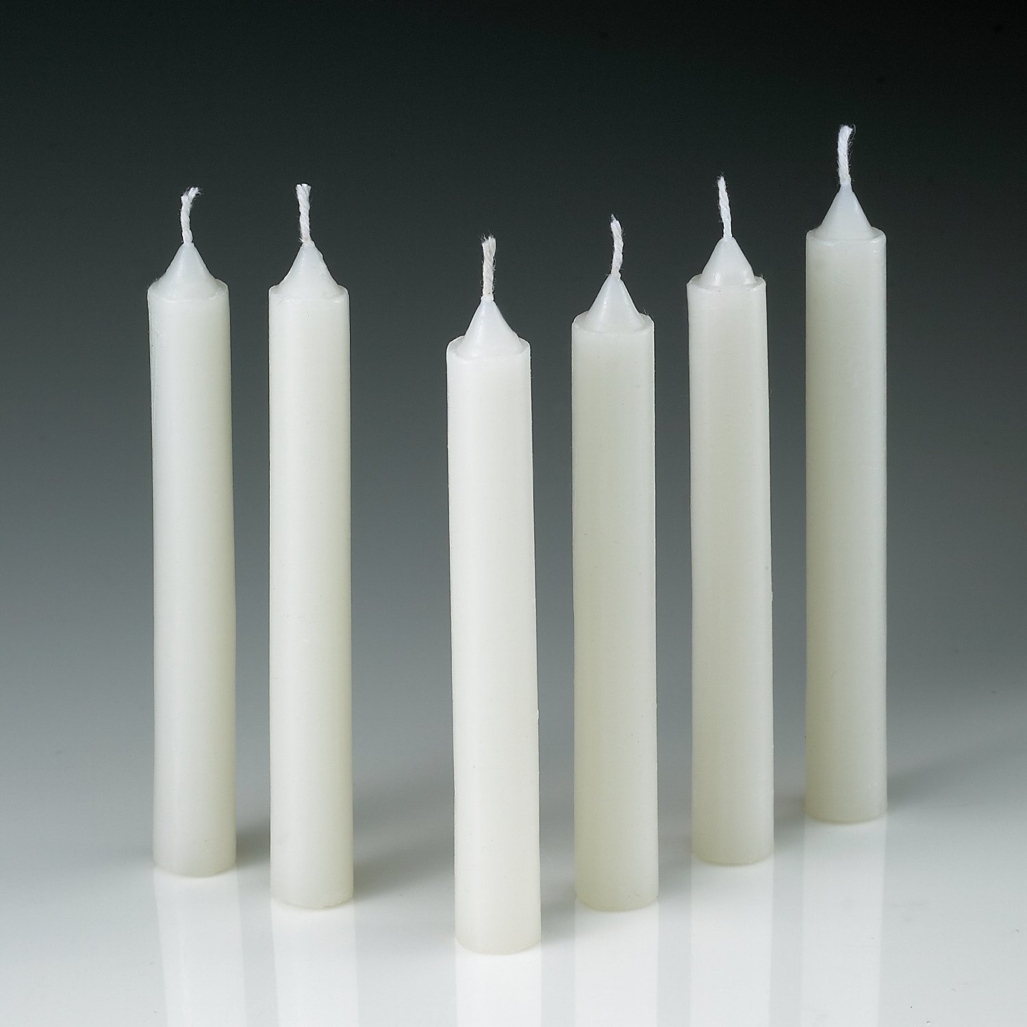 Amazoncom 60 White Taper Candles 4 Inch X 12 Inch Thick Burn