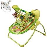 """Monsieur Bébé ® Transat et Balancelle Bébé pliable, musicale et programmable - Modèle """"Safari"""" - Norme EN1270"""