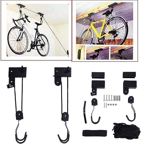 Soporte de pared para bicicleta – Soporte de techo con elevador ...