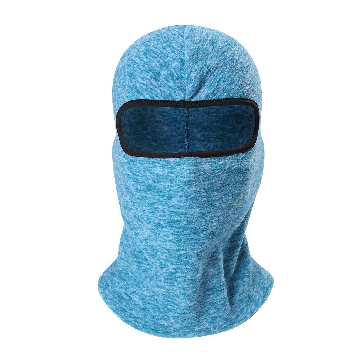 ECYC Cationic Fabric Balaclava Masks Winter Thermal Fleece Full Face Mask Neck Warmer Beanies,Lake Blue