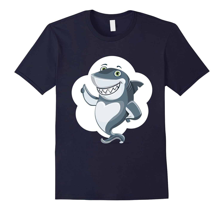 Cartoon Shark Shirt Favorite Animal Thumbs Up T-Shirt-T-Shirt