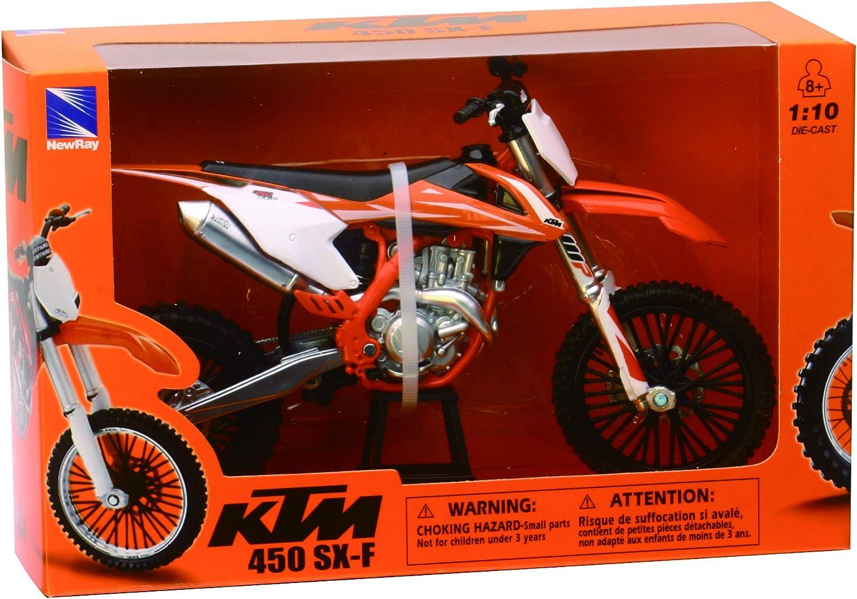 New Ray New Ray 1 10 Ktm 450 Sx F 2017 Modellfahrrad Orange Weiß Schwarz 57943 Spielzeug