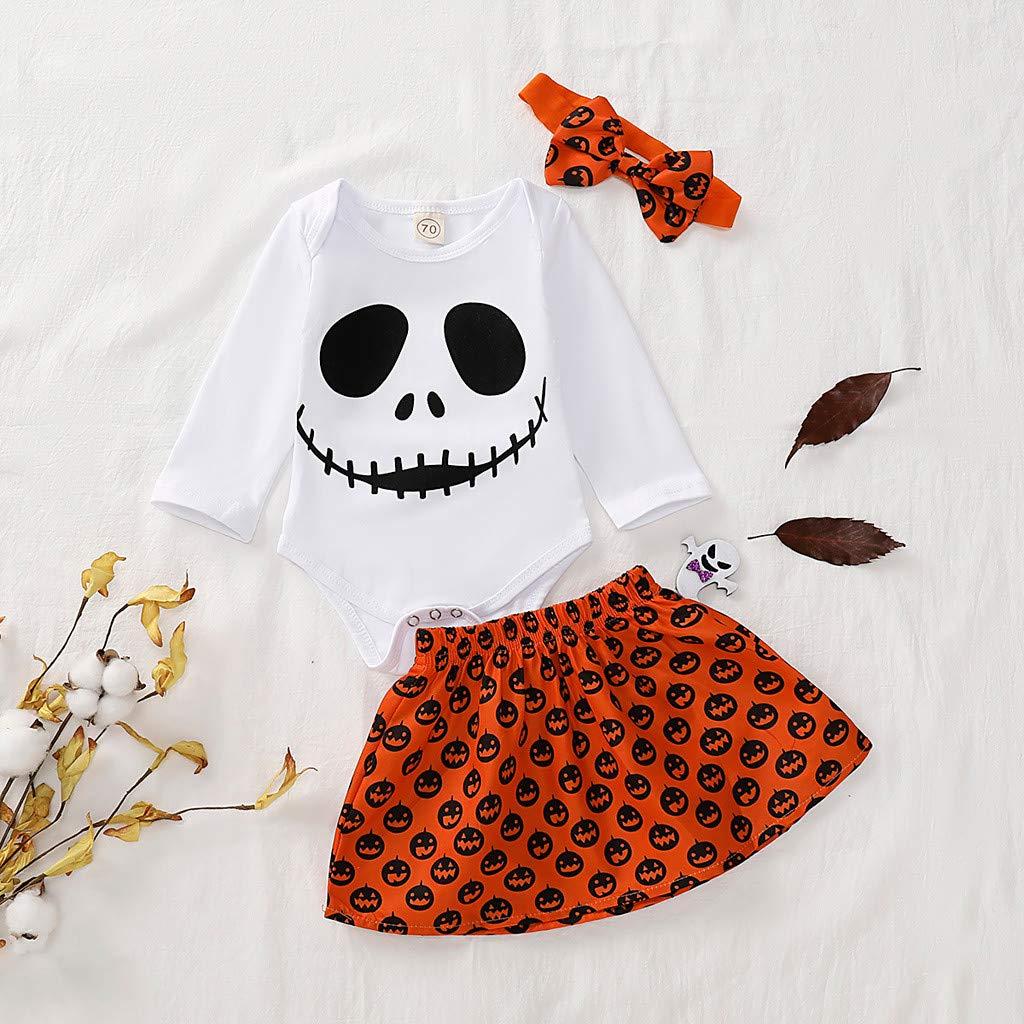 blanche,70 Halloween Fleur Costume Zipp/é Combinaison Pulls Tops V/êTements Body Hauts Nouveau-n/é nourrisson enfants b/éb/é fille halloween fant/ôme citrouille barboteuse jupe tenues ensemble