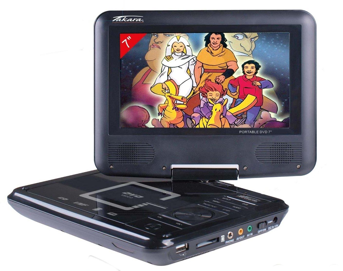 Lecteur DVD portable TAKARA VR122 NOIR